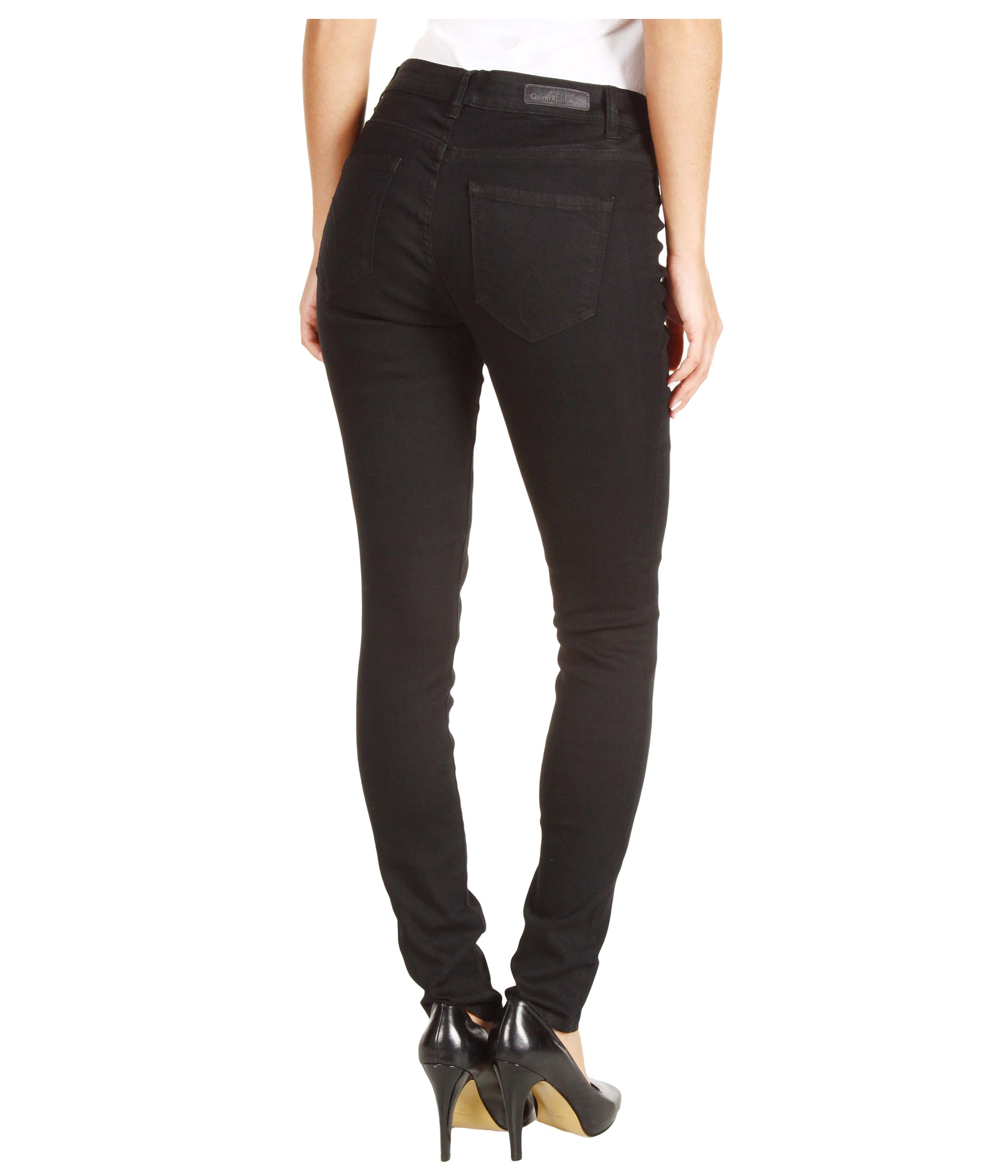 calvin klein jeans powerstretch denim legging in black shipped free at zappos. Black Bedroom Furniture Sets. Home Design Ideas