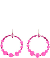 Tarina Tarantino - Rose Crystal Hoop Earrings