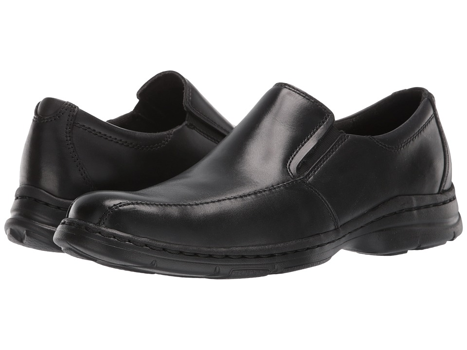 Dunham Blair Twin Gore Slip On (Black Smooth) Men