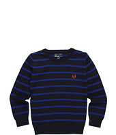 Fred Perry - Striped Crew Neck Sweater (Toddler/Little Kids/Big Kids)