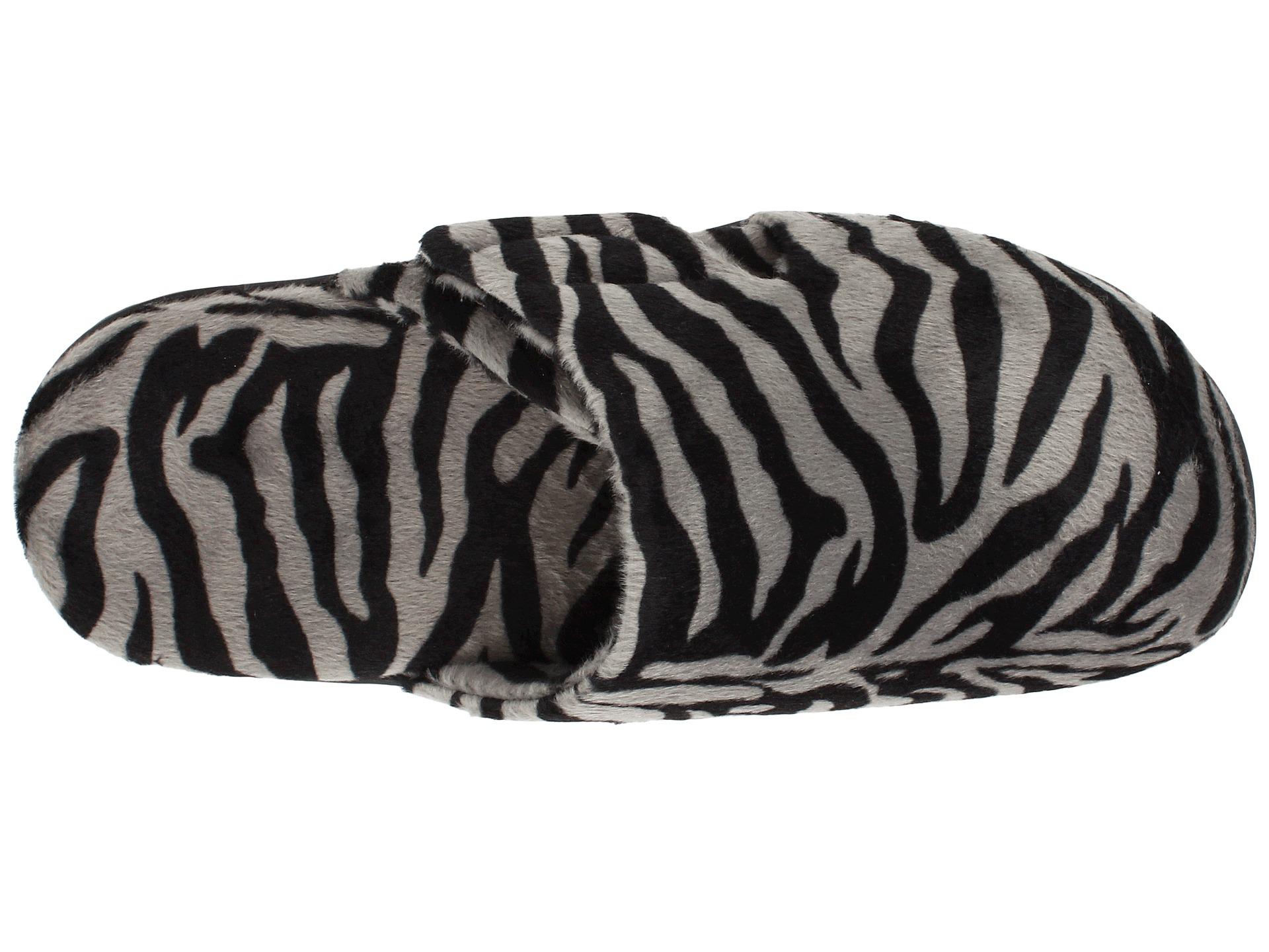 878daa07b628a VIONIC Gemma Mule Slipper Dark Grey Zebra on PopScreen