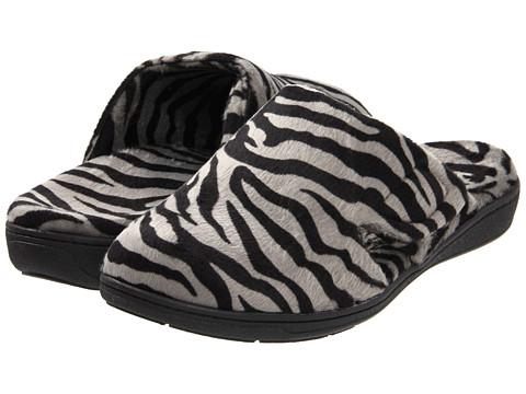 VIONIC Gemma Mule Slipper - Dark Grey Zebra
