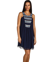 Badgley Mischka - Striped Beaded Dress Mark & James by Badgley Mischka