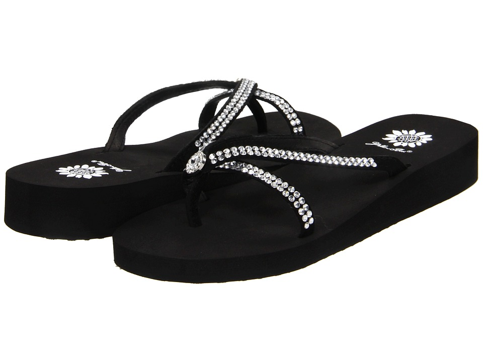 Yellow Box Stormy Black Womens Sandals