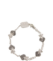 King Baby Studio - Black Pave CZ Crowned Heart Motif Bracelet