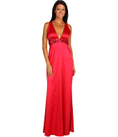 Jessica Simpson - Solid V-Neck Beaded Halter Dress
