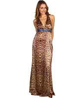 Jessica Simpson - V-Neck Beaded Halter Dress