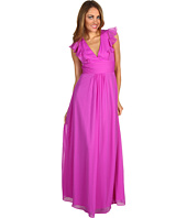 Jessica Simpson - Deep V-Neck Ruffle Gown