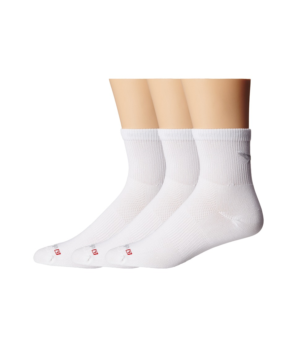 Drymax Sport Cycling 1/4 Crew 3 Pair Pack White Quarter Length Socks Shoes