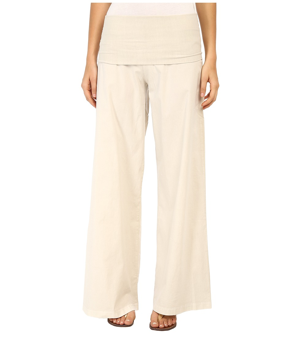XCVI Fold Over Palazzo Chalk Womens Casual Pants