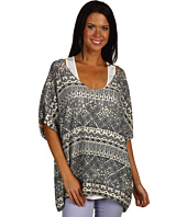 Joan Vass - Aztec V-Neck Top