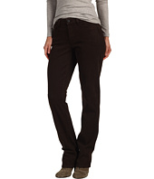 NYDJ - Marilyn Straightleg in Stretch Sueded Denim with Saddle Stitch Pocket in Ganache