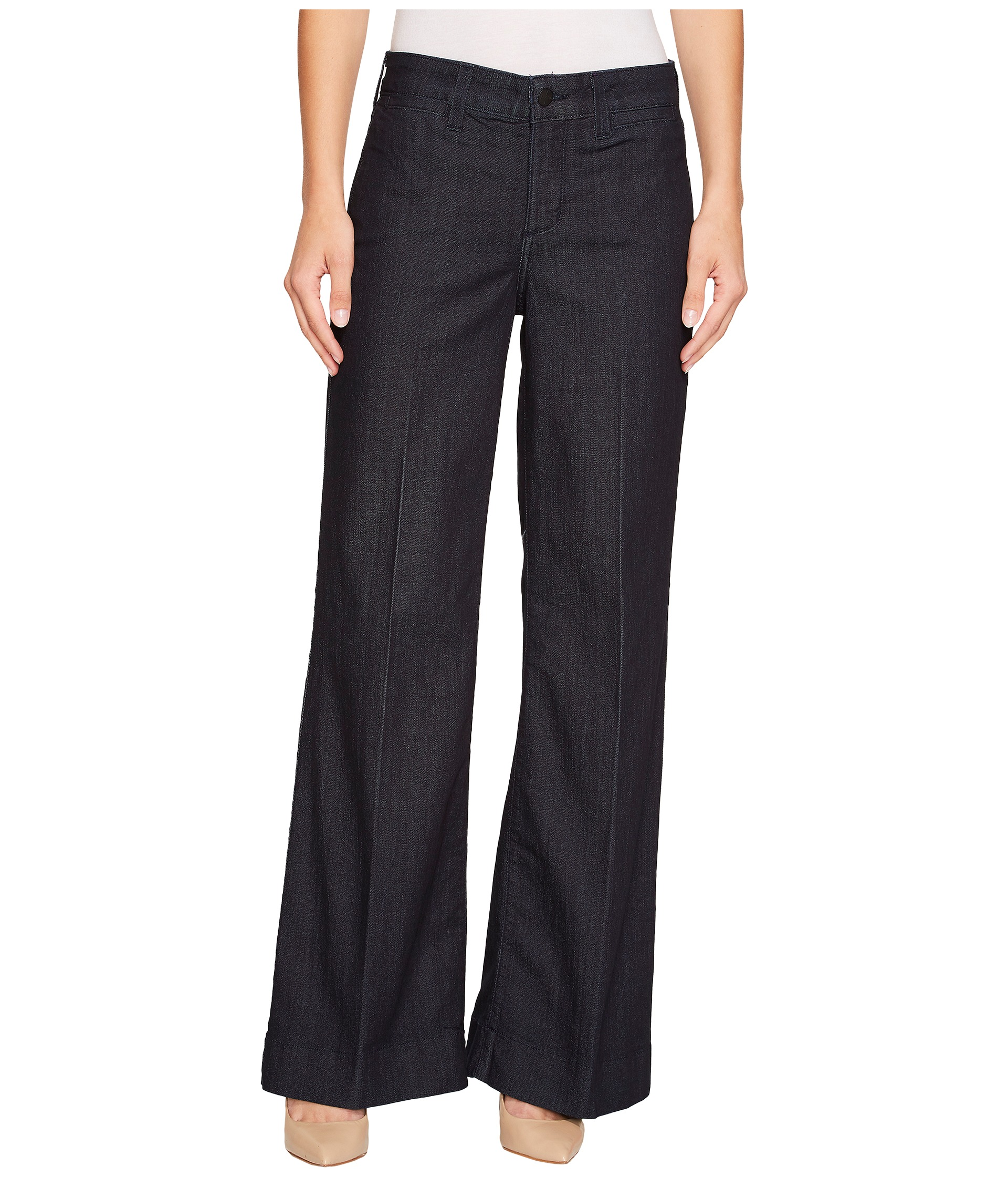 NYDJ Greta Trouser in Dark Enzyme at Zappos.com