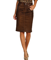 NYDJ - Emma Pencil Skirt in Leatherette in Terra Tan