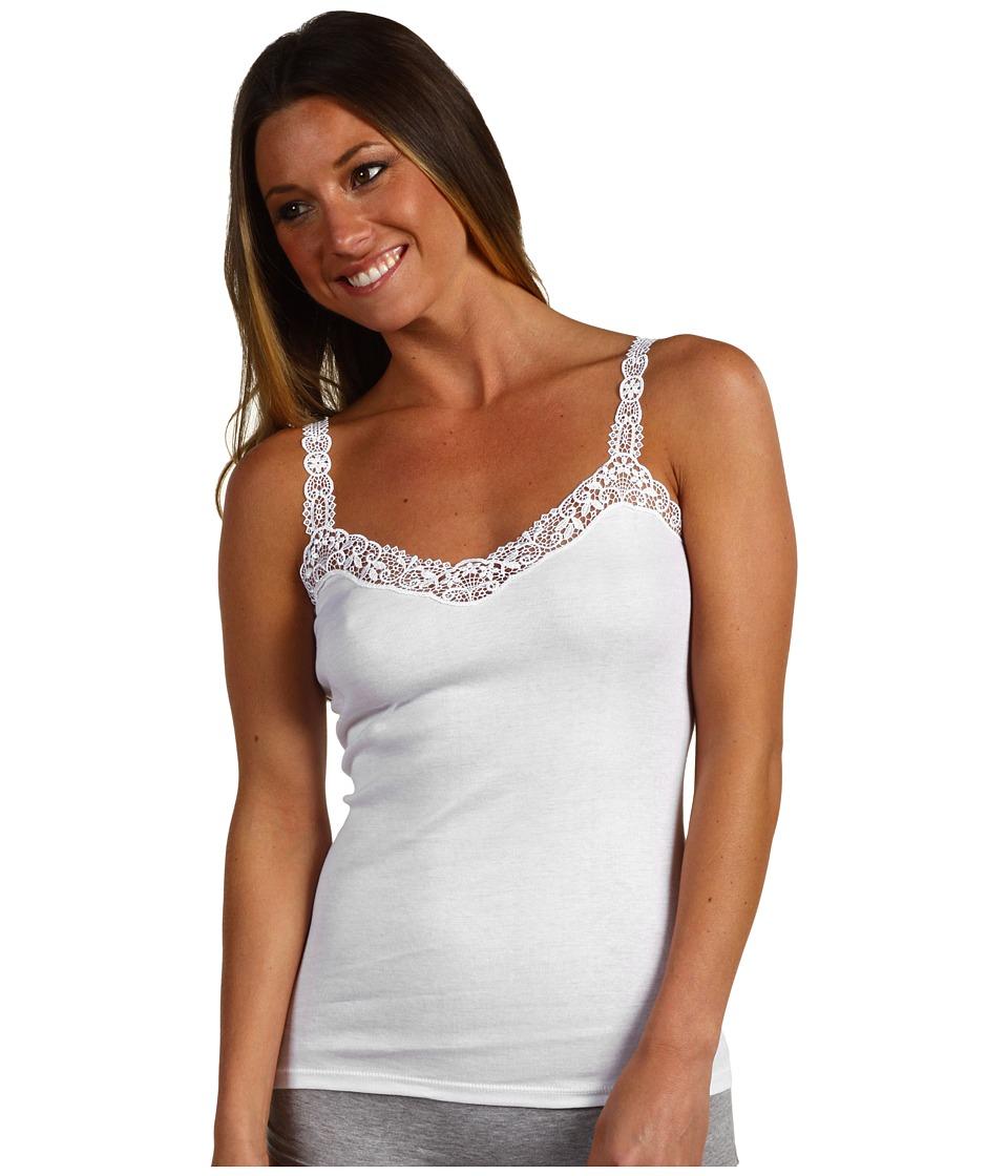 Hanro Delicate Tank Top (White) Women's Sleeveless
