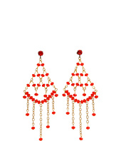 James Murray - Orange Faceted Bead Earring