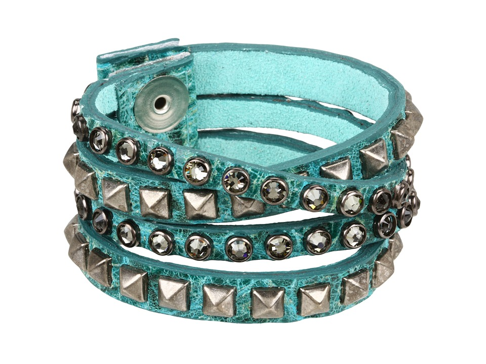 Leatherock - B340-F185 (Jade) Bracelet