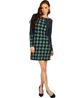 Tibi - Houndstooth Jersey Shift Dress