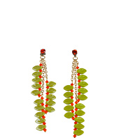 James Murray - Hyacynth Swarovski Crystal and Ceramic Leaf Earrings