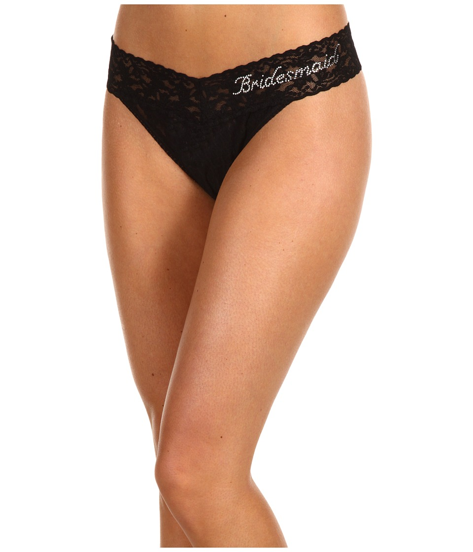 Hanky Panky - Bridesmaid Original Rise Bridal Party Thong (Black/Clear) Women's Underwear