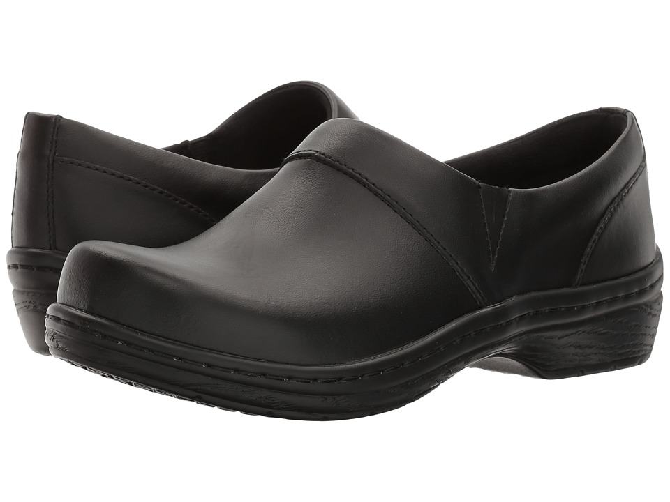 Klogs - Mission (Black Smooth Leather) Women's Clog Shoes
