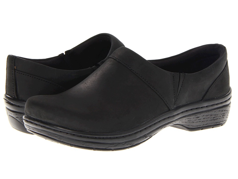 Klogs - Mission (Black Oil Leather) Women's Clog Shoes