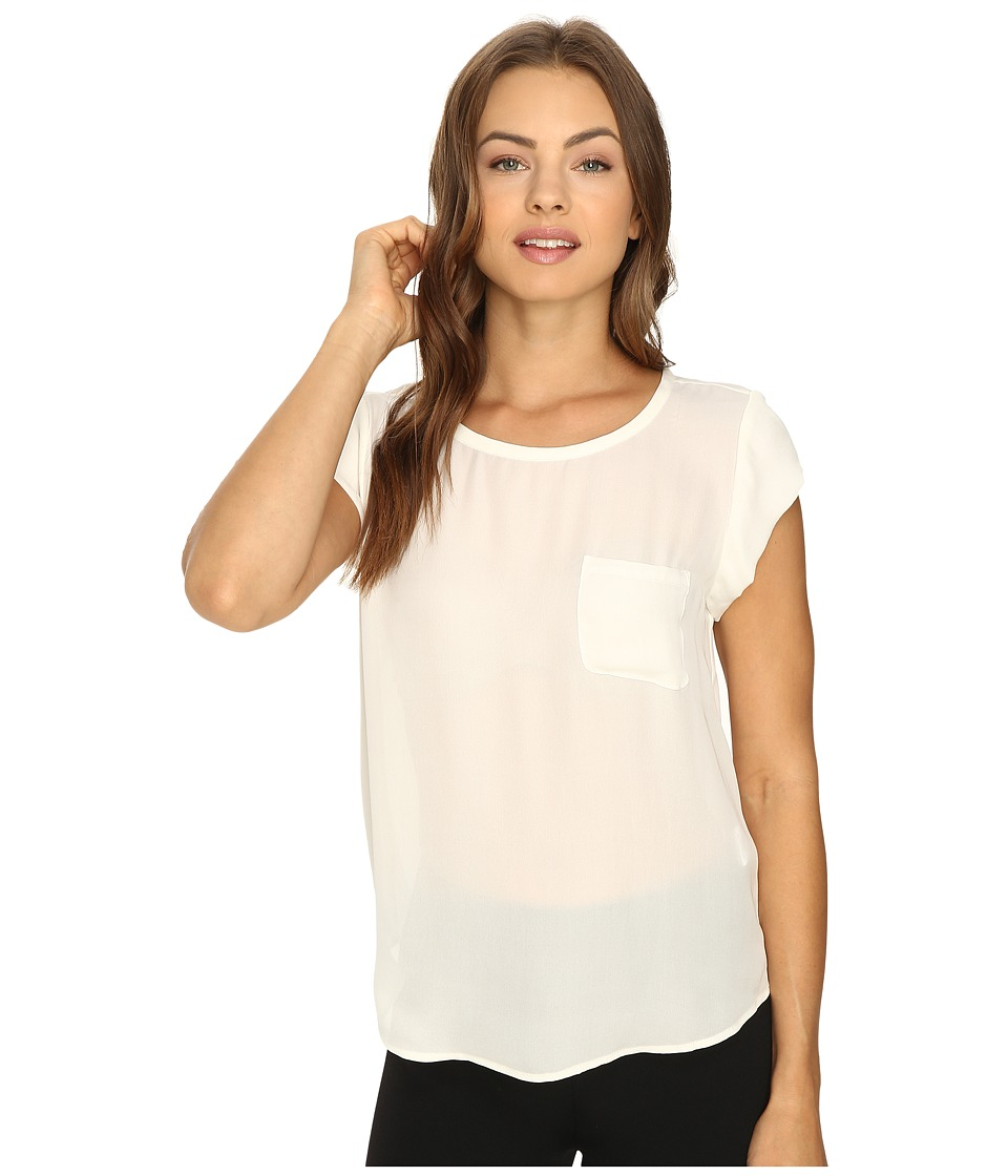 Joie Rancher Silk Top (Porcelain) Women's Blouse