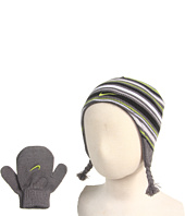 Nike Kids - Striped Peruvian Beanie and Mitten Set (Infant/Toddler)