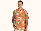 Tommy Bahama - Major Palm S/S Shirt (Dark Canyon Orange) - Apparel