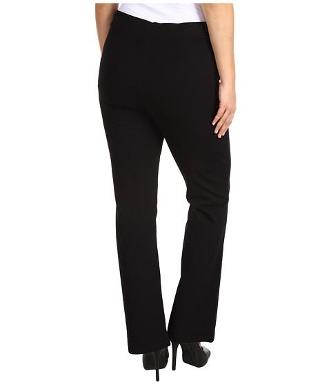 NYDJ Plus Size - Plus Size Belinda Pull On Bootcut in Black (Black) Women's Casual Pants