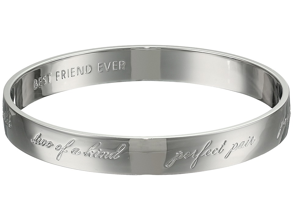 Kate Spade New York - Bridesmaids Idiom Bangle (Silver) Bracelet
