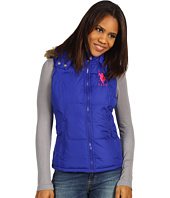 U.S. Polo Assn - Faux Fur Hooded Vest w/Big Pony