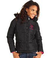 U.S. Polo Assn - Faux Fur Hooded Jacket w/Rhinestones