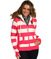 U.S. Polo Assn - Striped Fleece Hoody w/Sherpa Lining