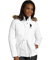 U.S. Polo Assn - Faux Fur Hooded Jacket w/Belt