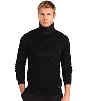 Just Cavalli - Leopard Print Turtleneck Sweater