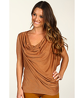 Halston Heritage - Draped One Sleeve Cowl Neck Top
