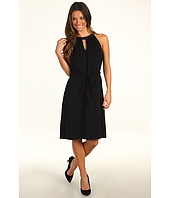 DKNYC - Sleeveless Tech Crepe Dress w/ Keyhole