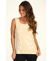 DKNYC - Sleeveless Sequin Scoop Neck Top