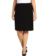 DKNYC - Plus Size Pull On Pleated Skirt