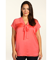 DKNYC - Plus Size Combo Bow Blouse