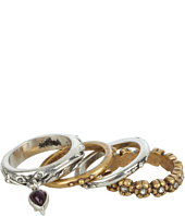 Lucky Brand - Two-Tone Floral Stack Rings