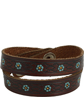 Lucky Brand - Brown Embroidered Leather Bracelet