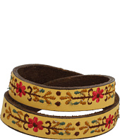 Lucky Brand - Tan Embroidered Leather Bracelet