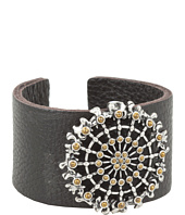 Lucky Brand - Leather Cuff w/ Two-Tone Novelty