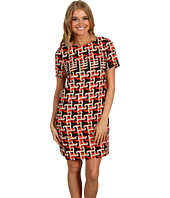 Julie Dillon - Short Sleeve Printed Shift Dress