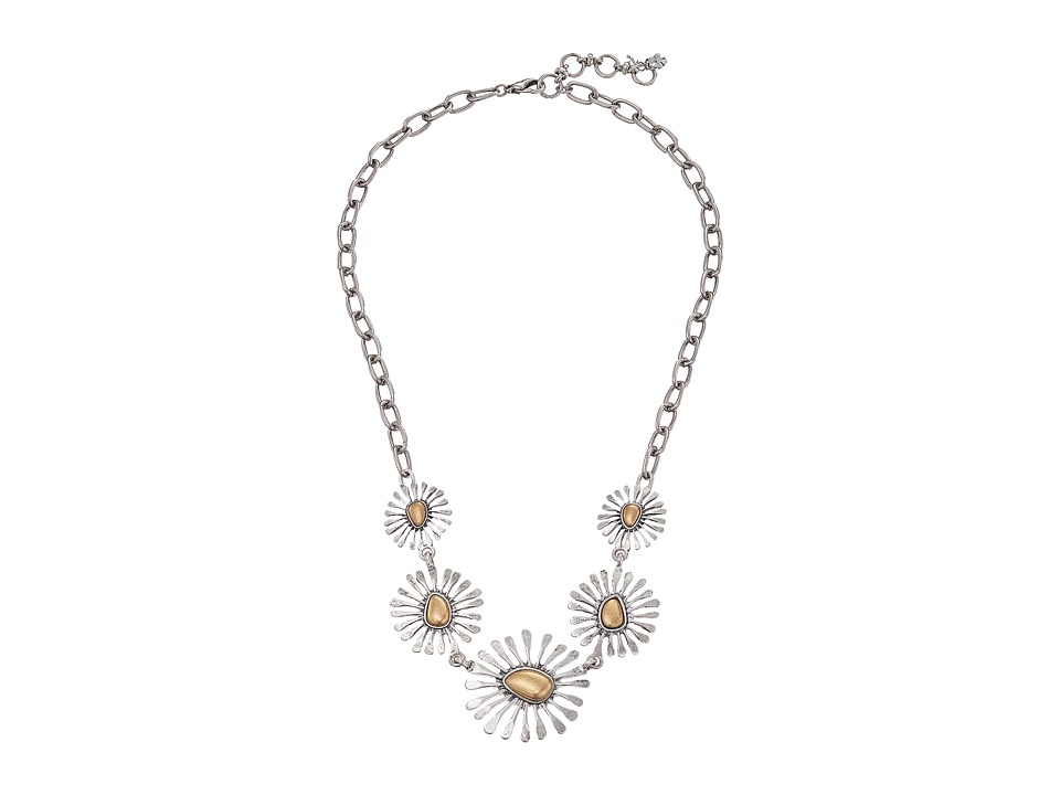 Lucky Brand - Floral Collar Necklace (Two-Tone) Necklace
