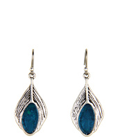 Lucky Brand - Small Turquoise Feather Drop Earring