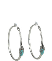 Lucky Brand - Round Feather Hoops