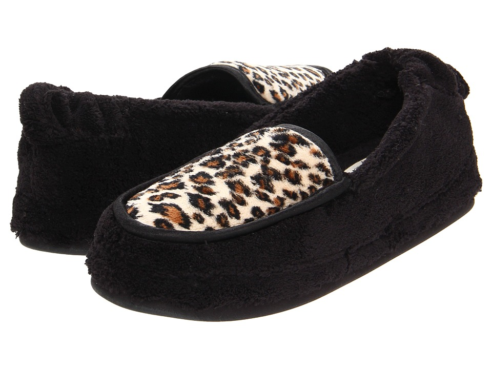 Daniel Green Alexa Black/Cheetah Womens Slippers